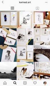 Karined.art un instagram dessin